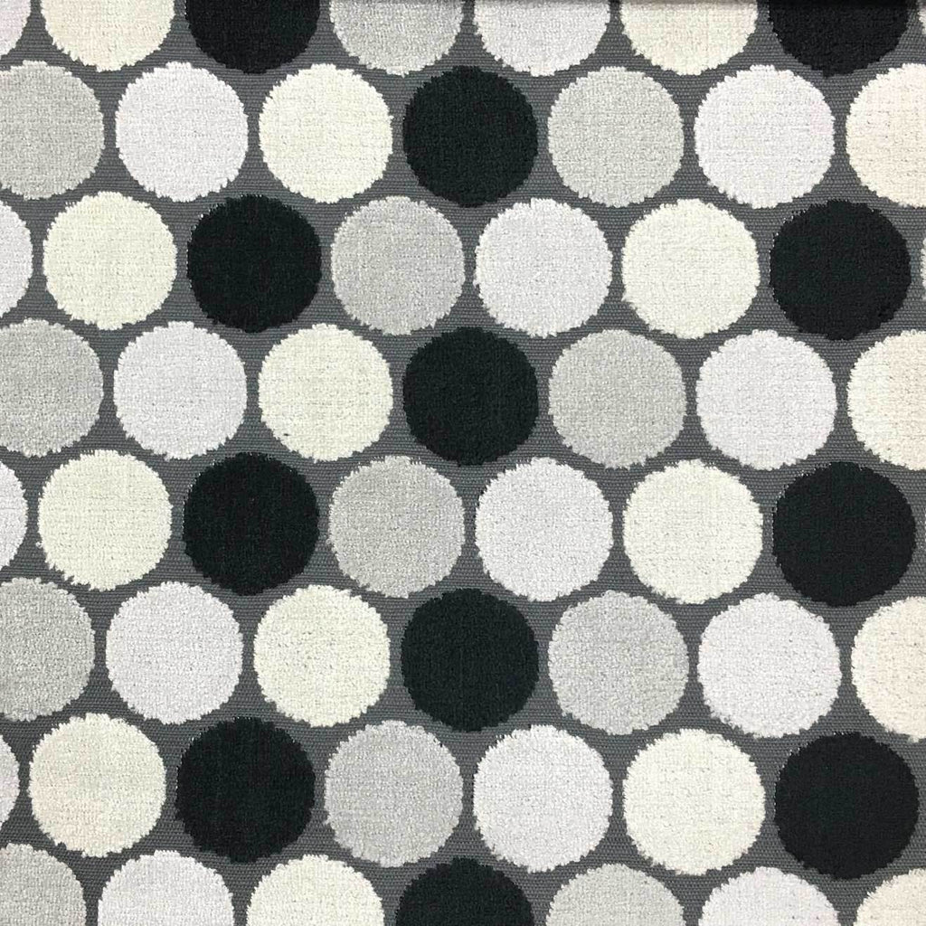 dab polka dot pattern cut velvet upholstery fabric by the yard. Black Bedroom Furniture Sets. Home Design Ideas
