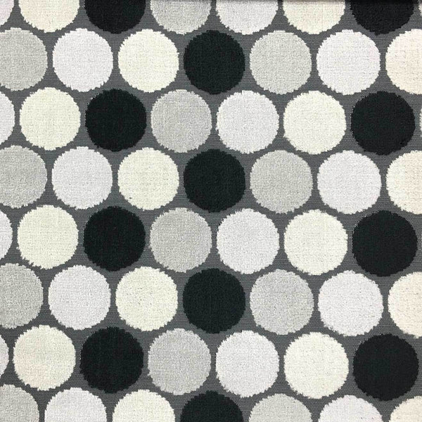 Dab - Polka Dot Pattern Cut Velvet Fabric Drapery & Upholstery Fabric by the Yard - Available in 14 Colors - Zinc - Top Fabric - 1