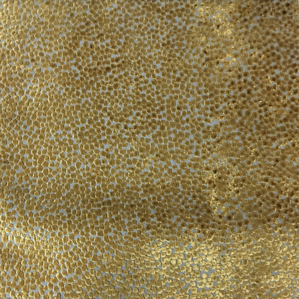 Florence Dots - Burnout Velvet Upholstery Fabric by the Yard - Available in 18 Colors - Antique Gold - Top Fabric - 7