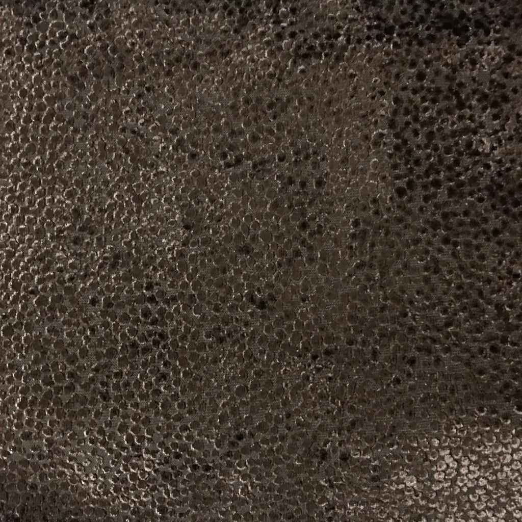 Florence Dots - Burnout Velvet Upholstery Fabric by the Yard - Available in 18 Colors - Coffee Bean - Top Fabric - 4