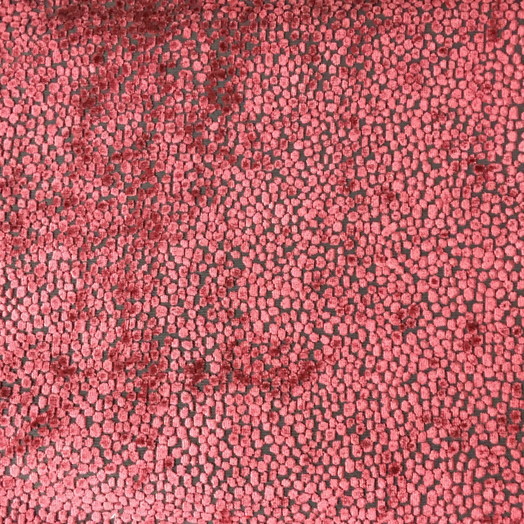 Florence Dots - Burnout Velvet Upholstery Fabric by the Yard - Available in 18 Colors - Henna - Top Fabric - 3
