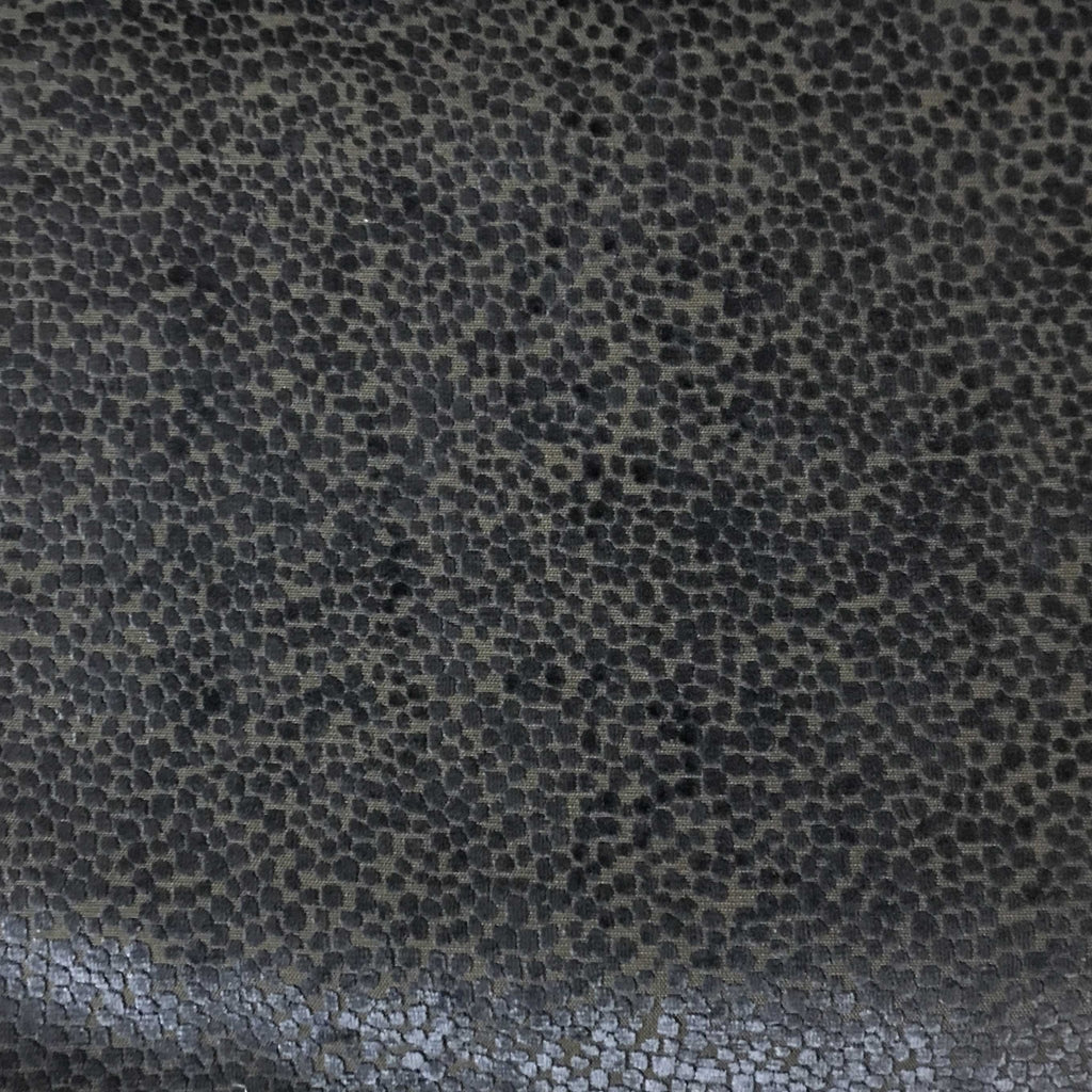 Florence Dots - Burnout Velvet Upholstery Fabric by the Yard - Available in 18 Colors - Navy - Top Fabric - 16