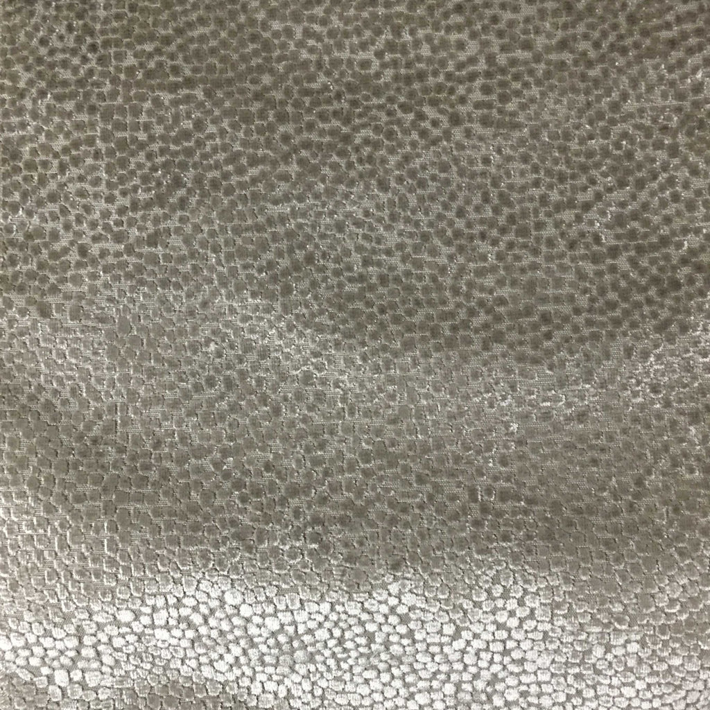 Florence Dots - Burnout Velvet Upholstery Fabric by the Yard - Available in 18 Colors - Plaza Taupe - Top Fabric - 10