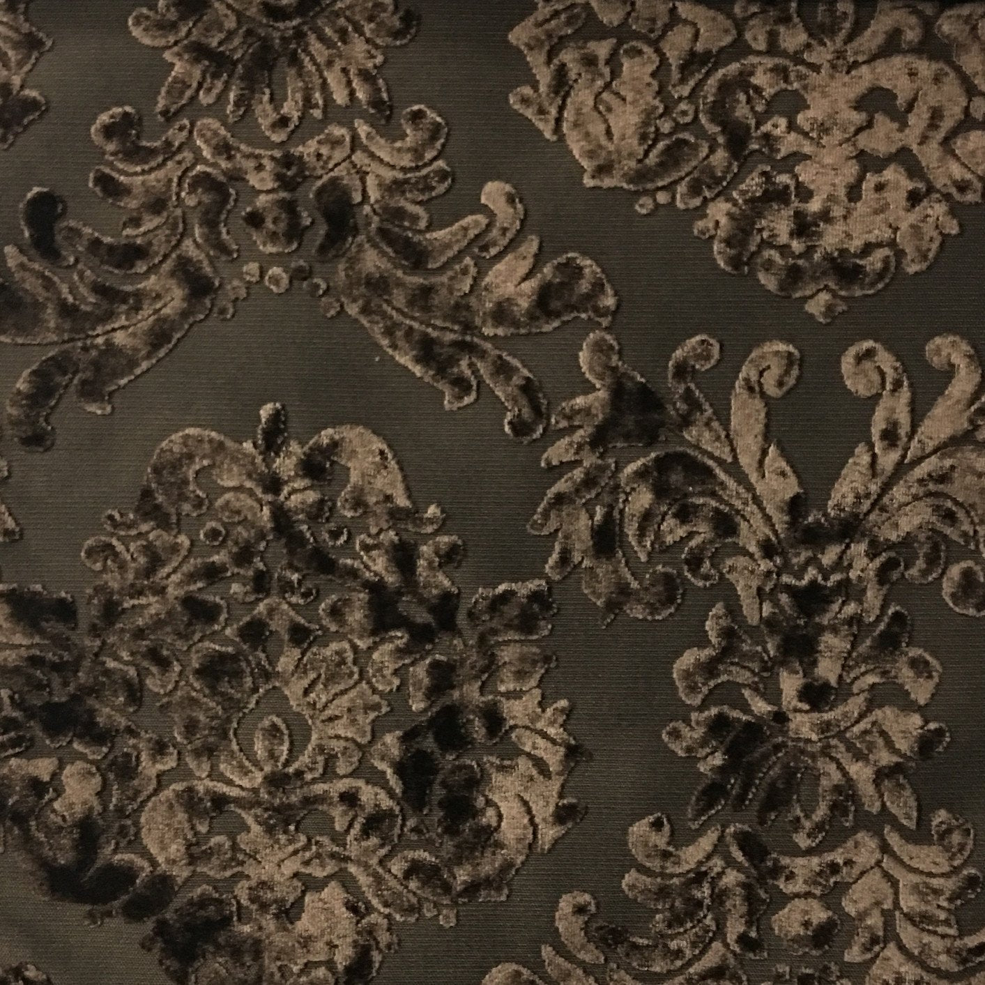 Florence palace damask pattern burnout velvet upholstery for Fabric for sale by the yard