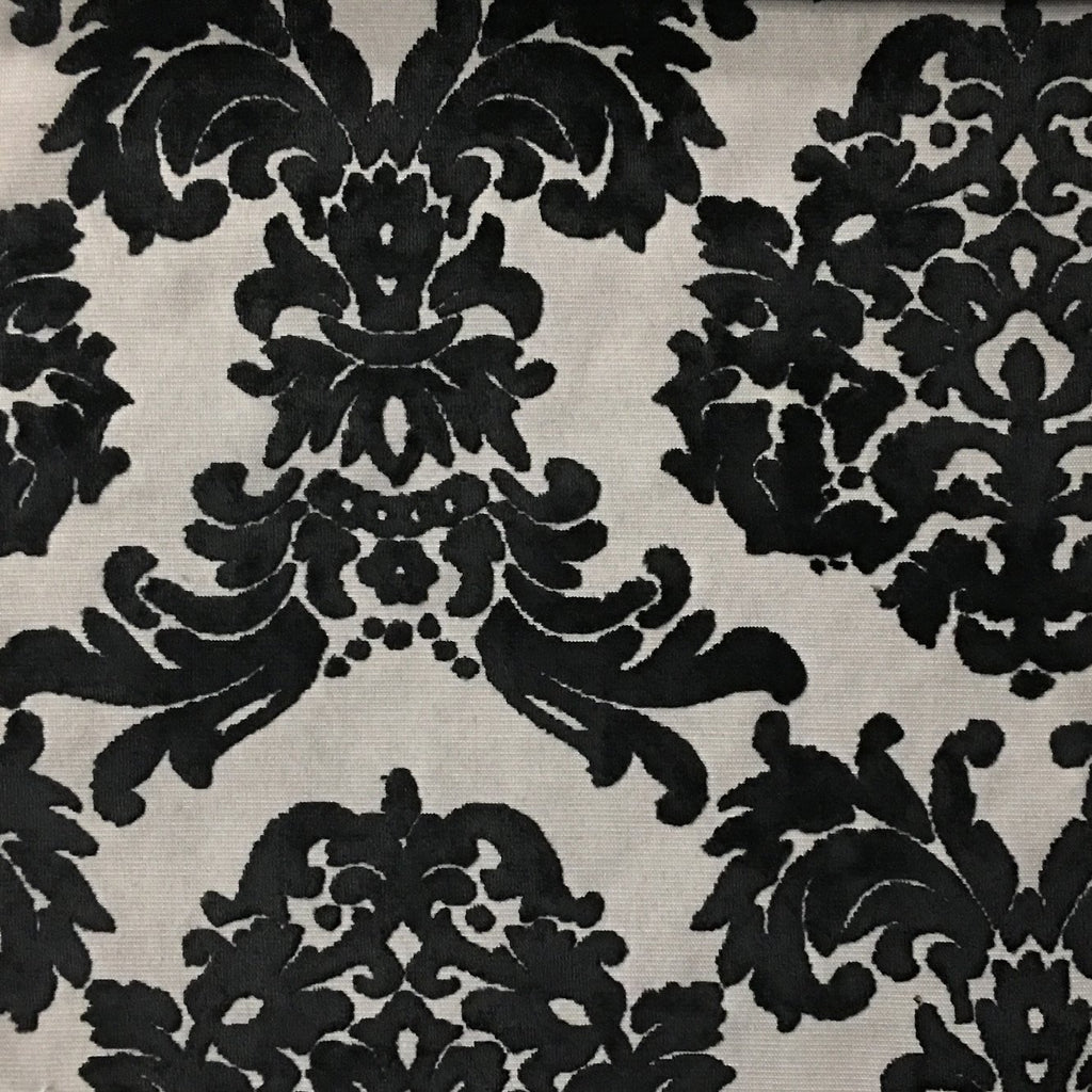 Florence Palace - Damask Pattern Burnout Velvet Upholstery Fabric by the Yard - Available in 9 Colors - Silver - Top Fabric - 9