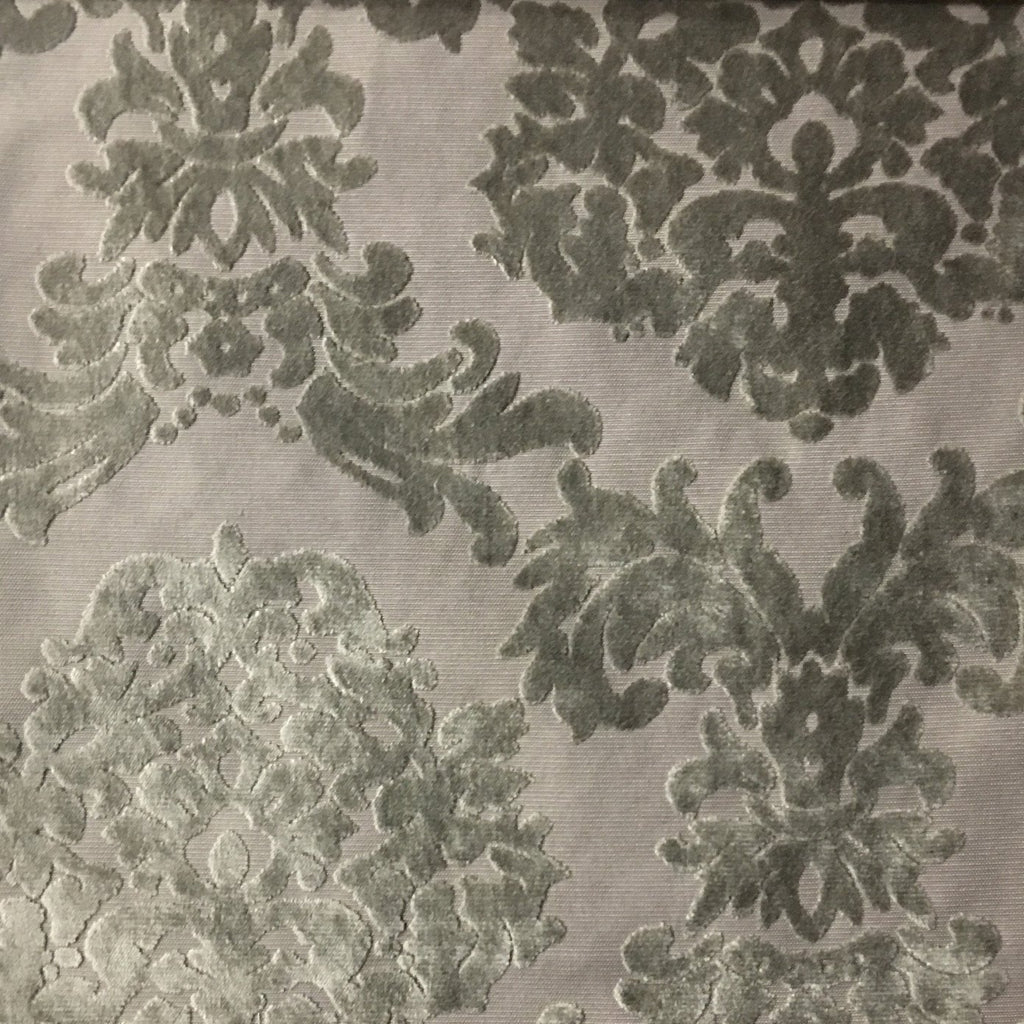 Florence Palace - Damask Pattern Burnout Velvet Upholstery Fabric by the Yard - Available in 9 Colors - Wheat - Top Fabric - 5