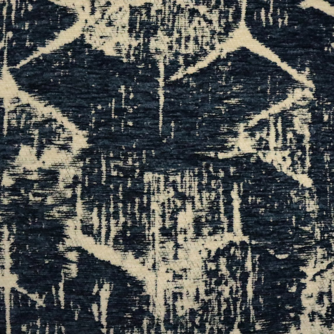 with a Modern Art Text Uniquely Designed Chenille Upholstery Fabric BLACK