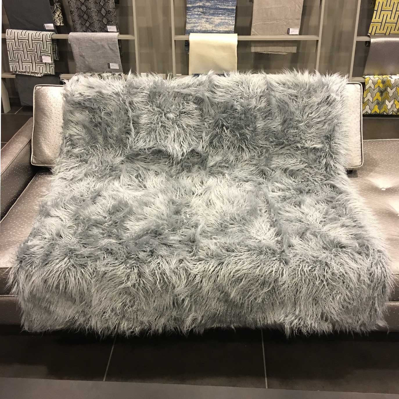 Gigi   Luxurious Shaggy Faux Fur Throw Blanket   Available In 12 Colors    Feather ...