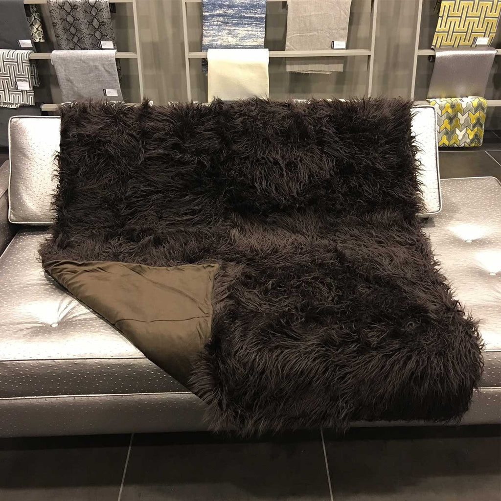 Gigi - Luxurious Shaggy Faux Fur Throw Blanket - Available in 12 Colors -  - Top Fabric - 6