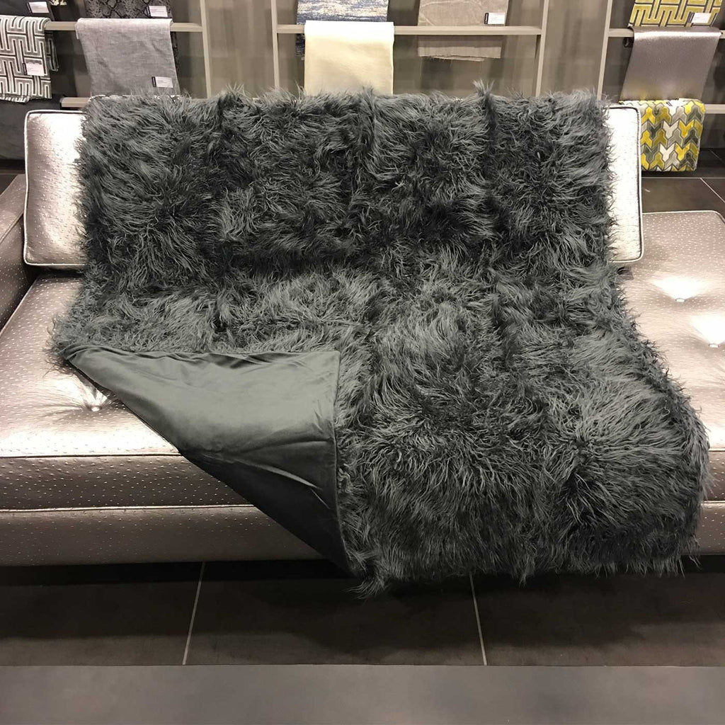 Gigi - Luxurious Shaggy Faux Fur Throw Blanket - Available in 12 Colors -  - Top Fabric - 10