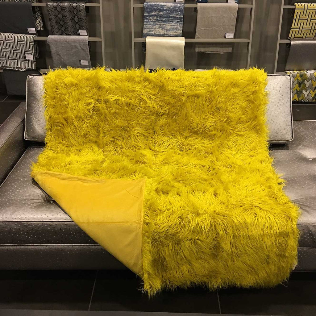 Gigi - Luxurious Shaggy Faux Fur Throw Blanket - Available in 12 Colors -  - Top Fabric - 18