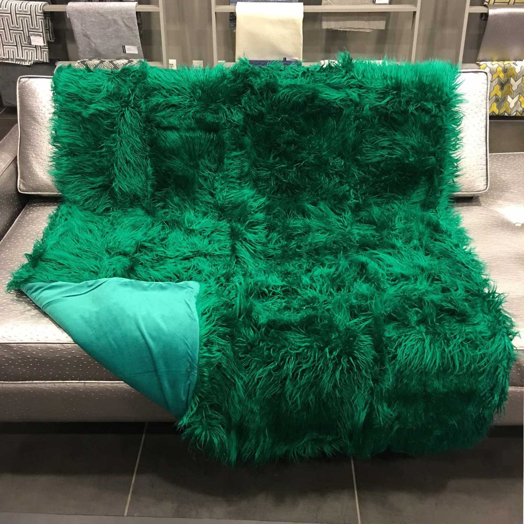 Gigi - Luxurious Shaggy Faux Fur Throw Blanket - Available in 12 Colors -  - Top Fabric - 20