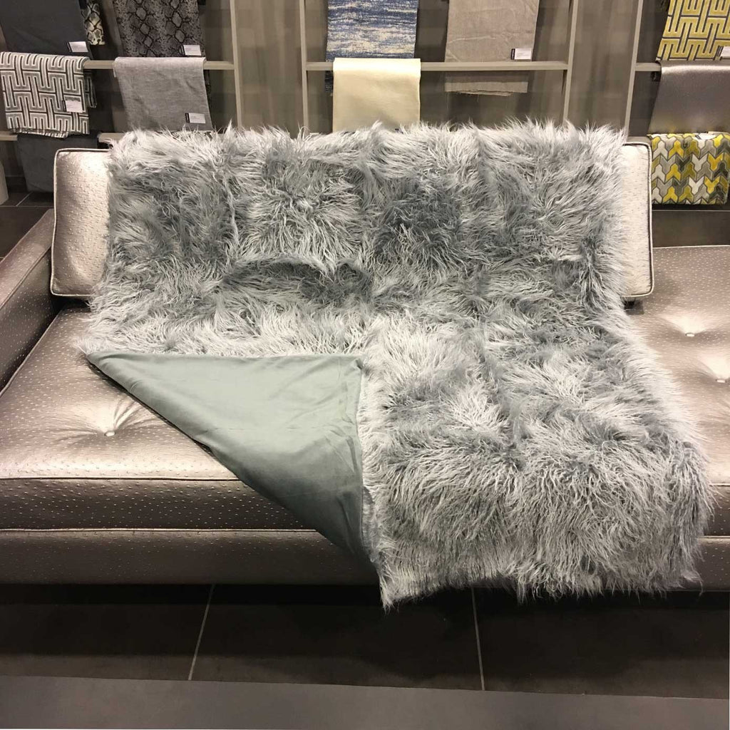 Gigi - Luxurious Shaggy Faux Fur Throw Blanket - Available in 12 Colors -  - Top Fabric - 2