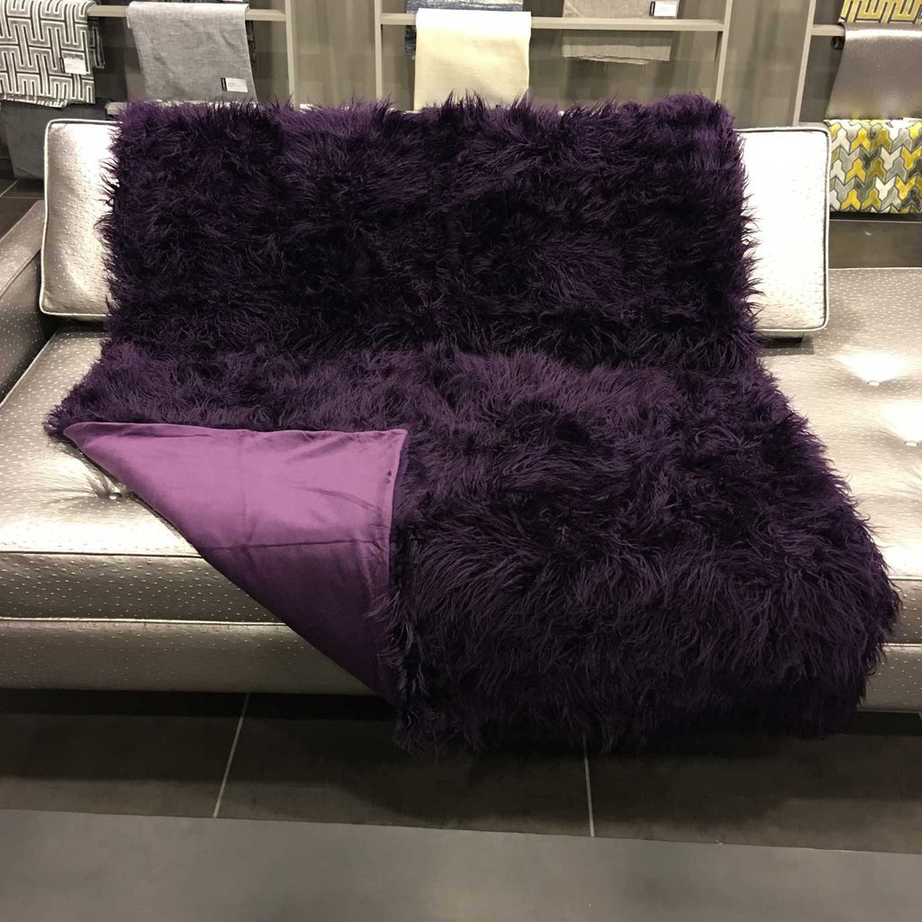 Gigi - Luxurious Shaggy Faux Fur Throw Blanket - Available in 12 Colors -  - Top Fabric - 22