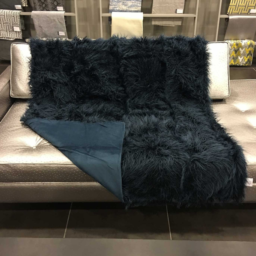 Gigi - Luxurious Shaggy Faux Fur Throw Blanket - Available in 12 Colors -  - Top Fabric - 12