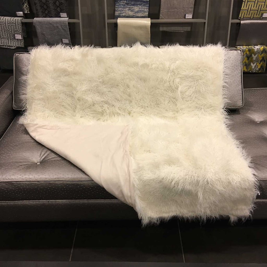 Gigi - Luxurious Shaggy Faux Fur Throw Blanket - Available in 12 Colors -  - Top Fabric - 16
