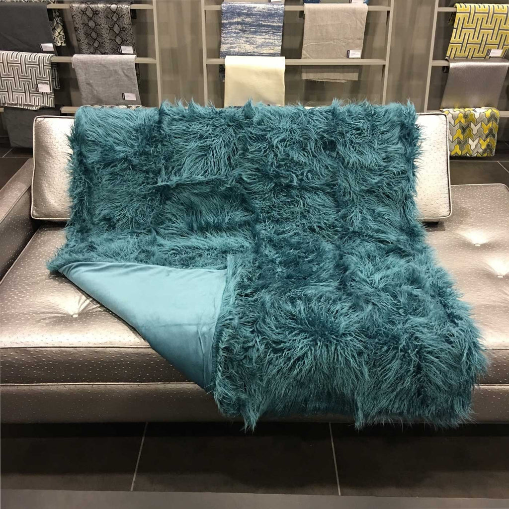 Gigi - Luxurious Shaggy Faux Fur Throw Blanket - Available in 12 Colors -  - Top Fabric - 4