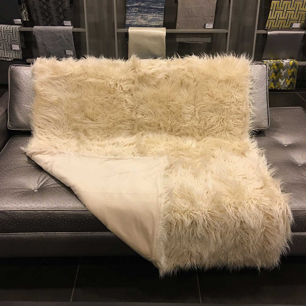Gigi - Luxurious Shaggy Faux Fur Throw Blanket - Available in 12 Colors -  - Top Fabric - 14