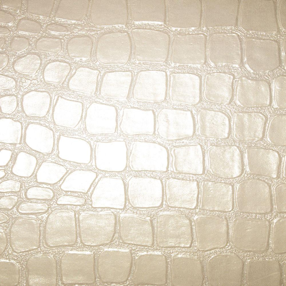 Regent - Crocodile Print Vinyl Upholstery Fabric by the Yard - Available in 4 Colors - Pearl - Top Fabric - 3