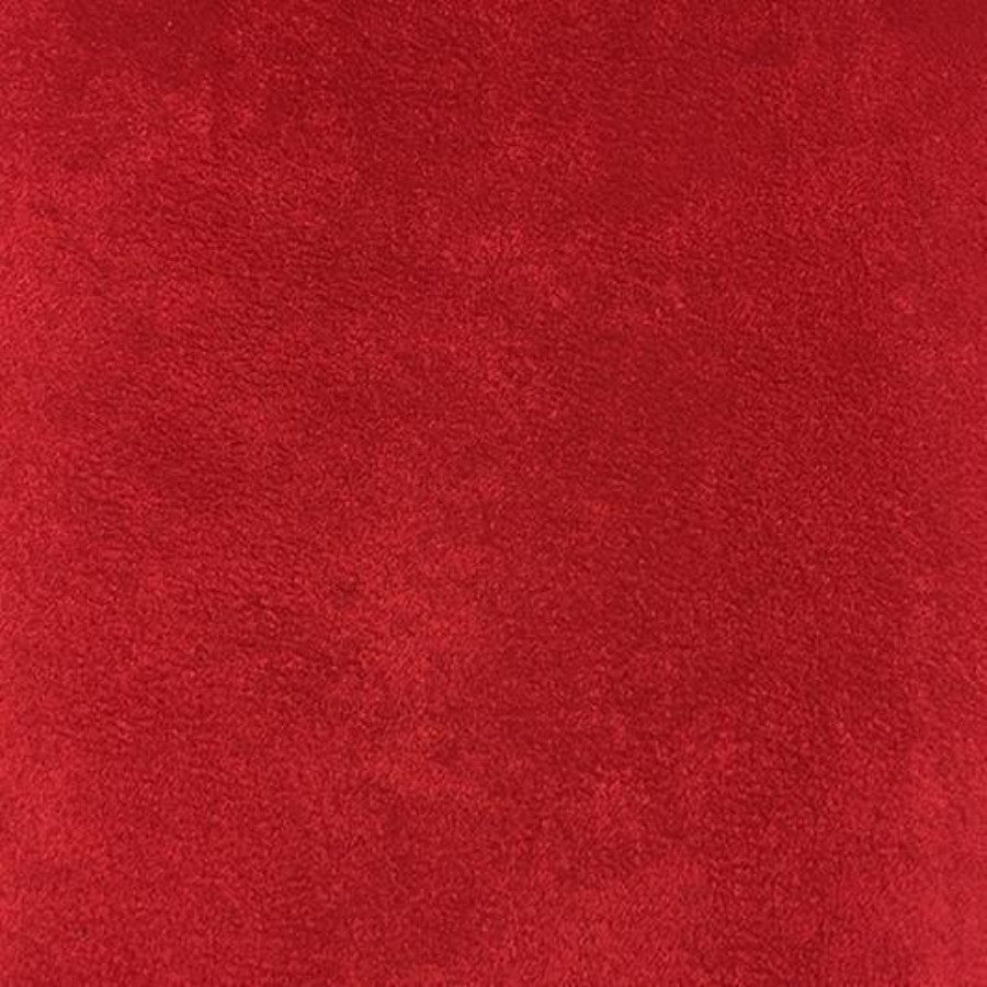 Heavy Suede - Microsuede Fabric by the Yard - Available in 69 Colors - Chinese Red - Top Fabric - 21