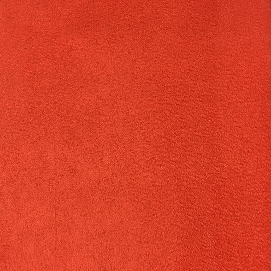 Heavy Suede - Microsuede Fabric by the Yard - Available in 69 Colors - Orange - Top Fabric - 24
