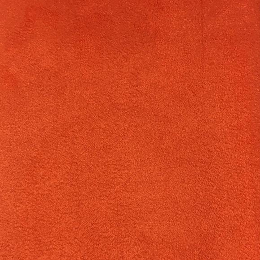 Heavy Suede - Microsuede Fabric by the Yard - Available in 69 Colors - Pumpkin - Top Fabric - 25