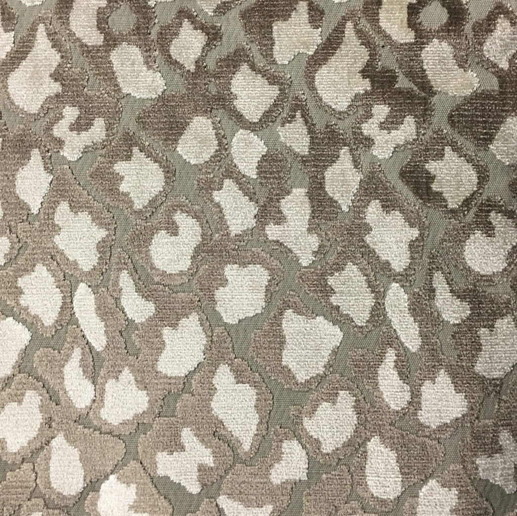 Hendrix - Leopard Print Cut Velvet Fabric Upholstery Fabric by the Yard - Available in 15 Colors - Beach - Top Fabric - 5