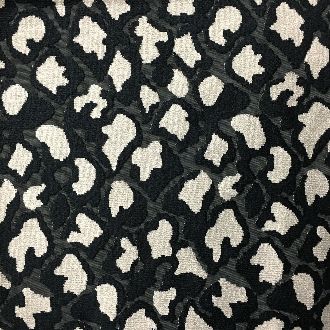 Hendrix - Leopard Print Cut Velvet Fabric Upholstery Fabric by the Yard -  Available in 15 ... c73a8f123888