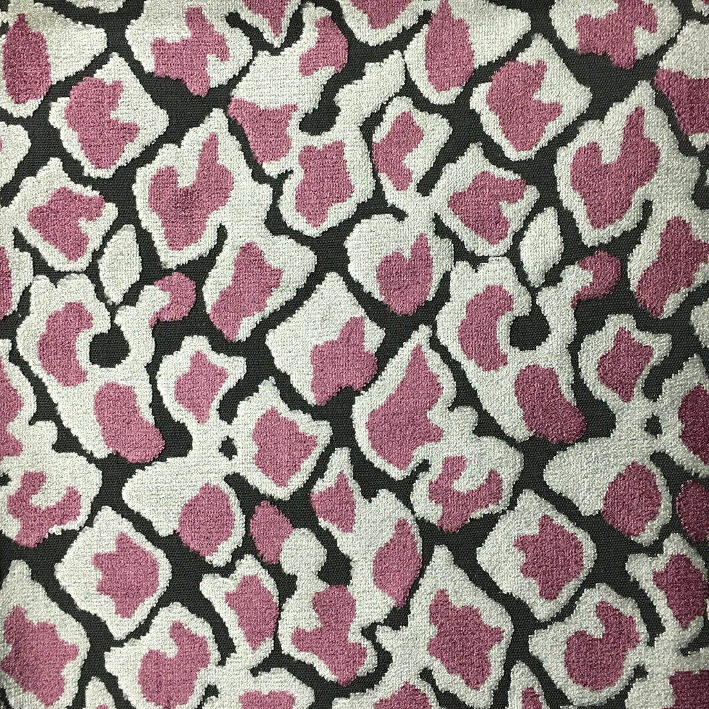 Hendrix - Leopard Print Cut Velvet Fabric Upholstery Fabric by the Yard - Available in 15 Colors - Fig - Top Fabric - 14