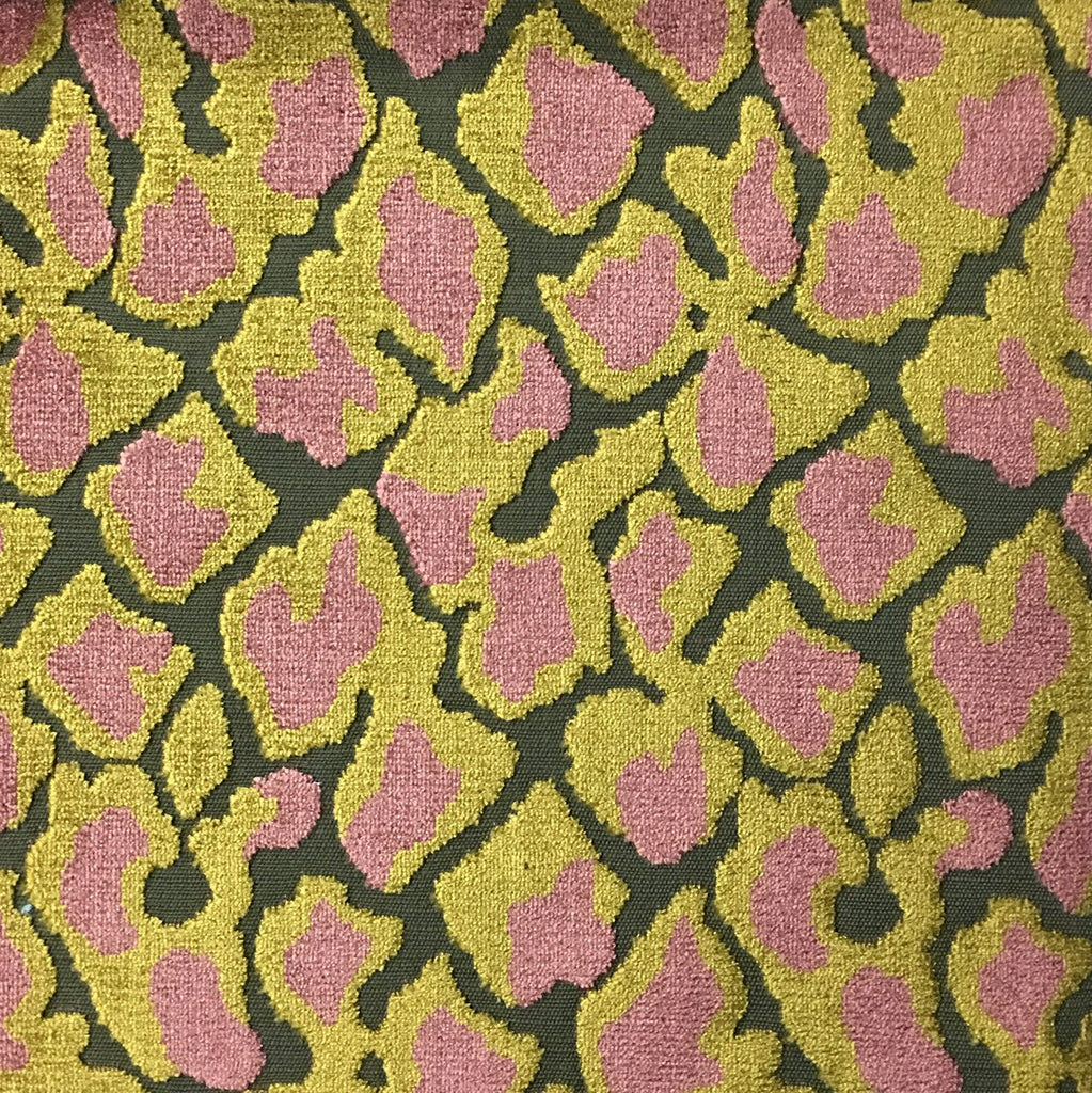 Hendrix - Leopard Print Cut Velvet Fabric Upholstery Fabric by the Yard - Available in 15 Colors - Henna - Top Fabric - 13