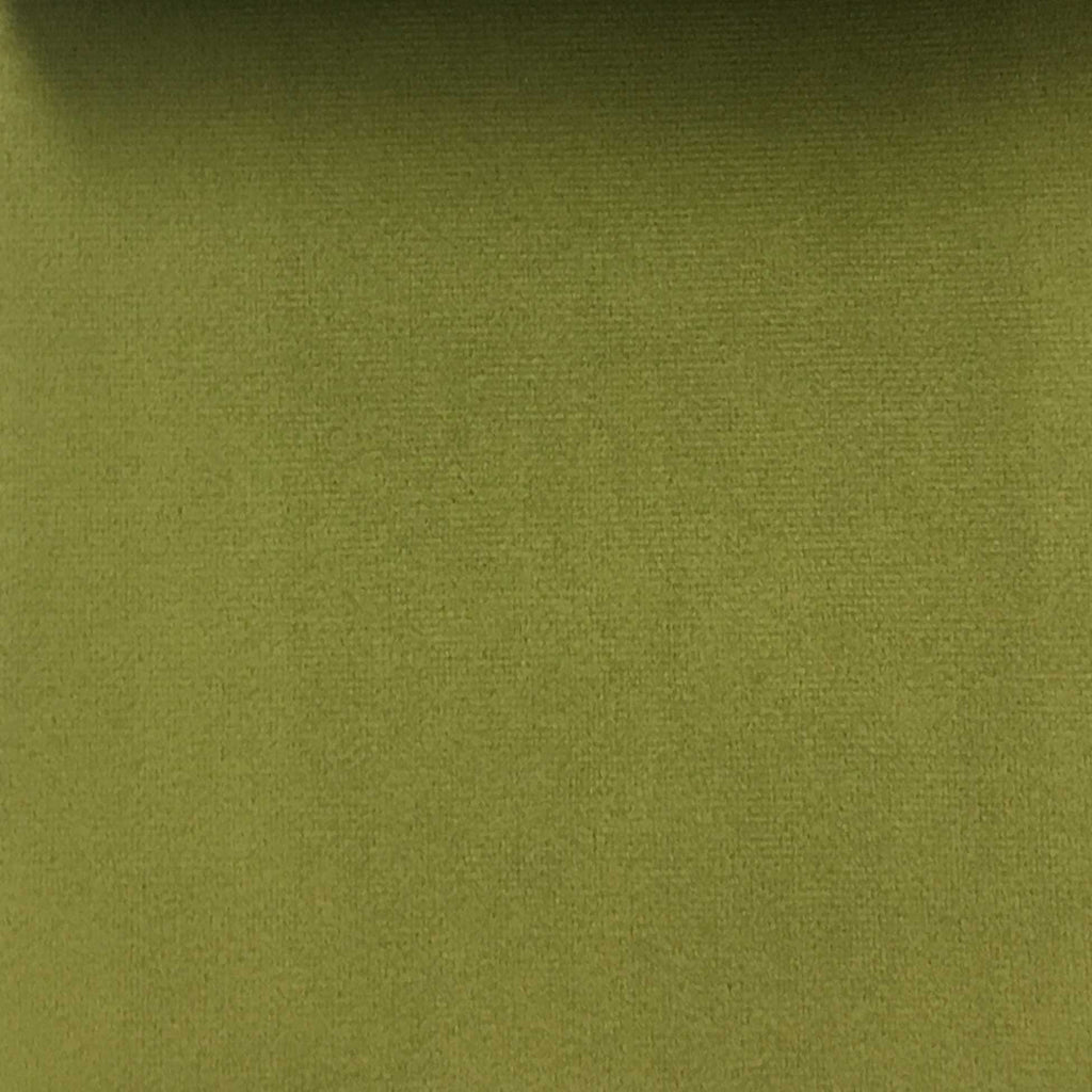 Highbury - Solid Plush Microvelvet Fabric Upholstery Velvet Fabric by the Yard - Available in 47 Colors - Apple Green - Top Fabric - 27