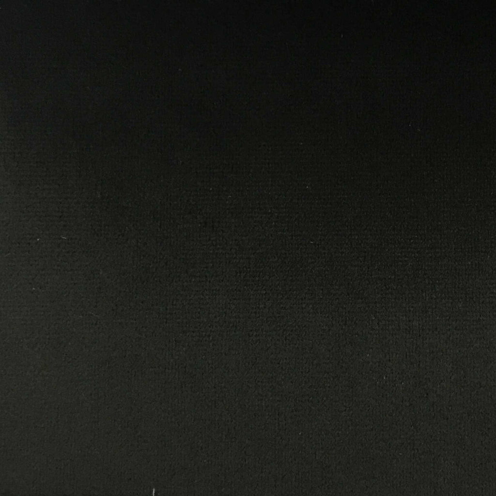 Highbury - Solid Plush Microvelvet Fabric Upholstery Velvet Fabric by the Yard - Available in 47 Colors - Black - Top Fabric - 36