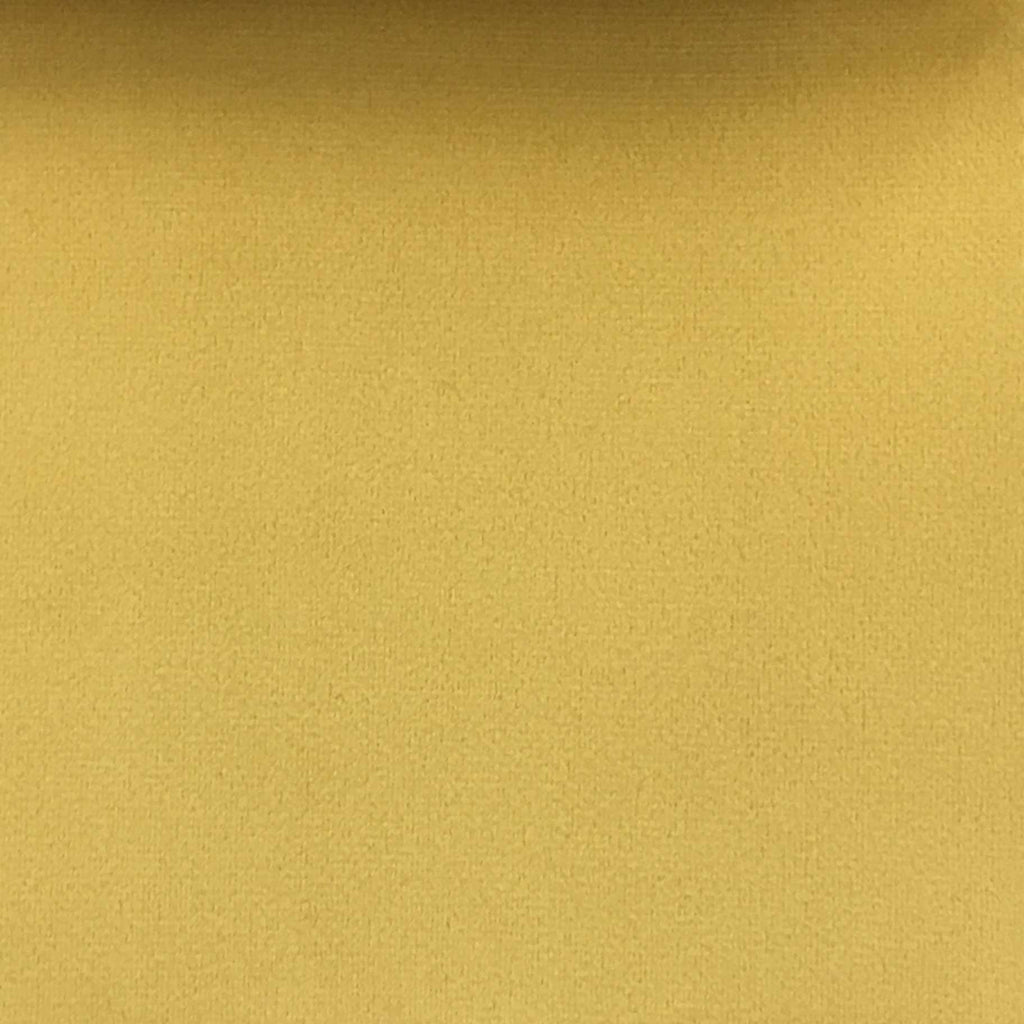 Highbury - Solid Plush Microvelvet Fabric Upholstery Velvet Fabric by the Yard - Available in 47 Colors - Canary - Top Fabric - 29