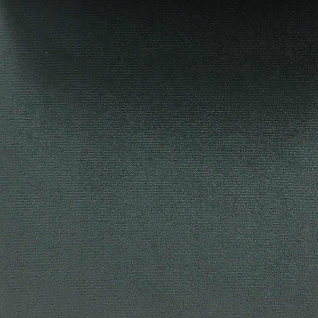 Highbury - Solid Plush Microvelvet Fabric Upholstery Velvet Fabric by the Yard - Available in 47 Colors - Charcoal - Top Fabric - 1