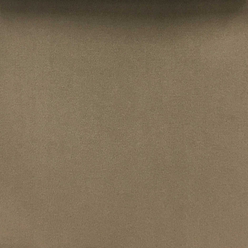 Highbury - Solid Plush Microvelvet Fabric Upholstery Velvet Fabric by the Yard - Available in 47 Colors - Cocoa - Top Fabric - 33