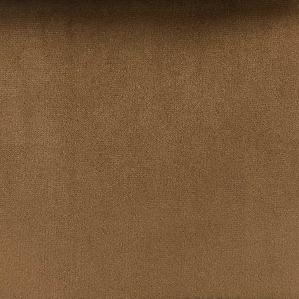 Highbury - Solid Plush Microvelvet Fabric Upholstery Velvet Fabric by the Yard - Available in 47 Colors - Cognac - Top Fabric - 39