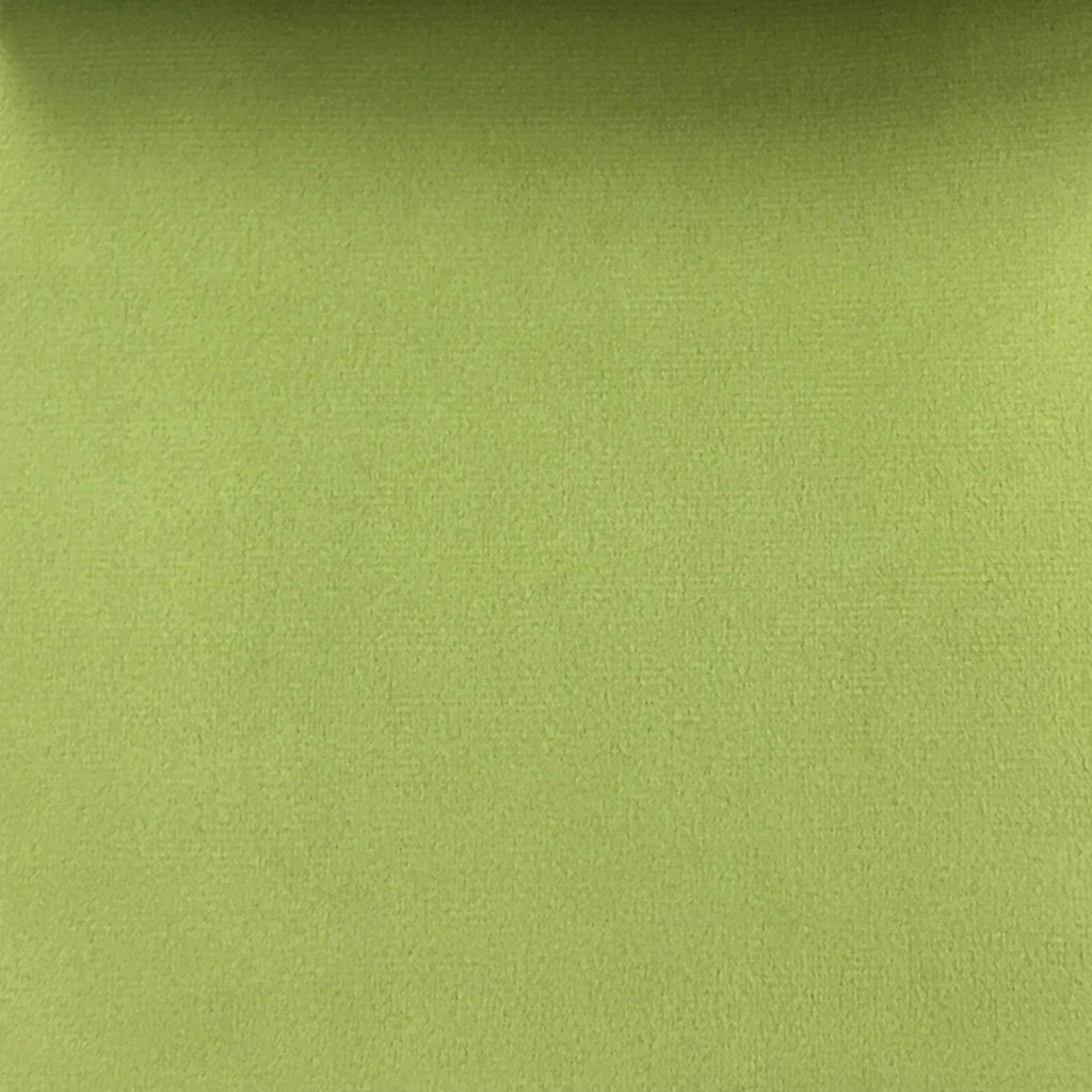 Highbury - Solid Plush Microvelvet Fabric Upholstery Velvet Fabric by the Yard - Available in 47 Colors - Lime - Top Fabric - 30