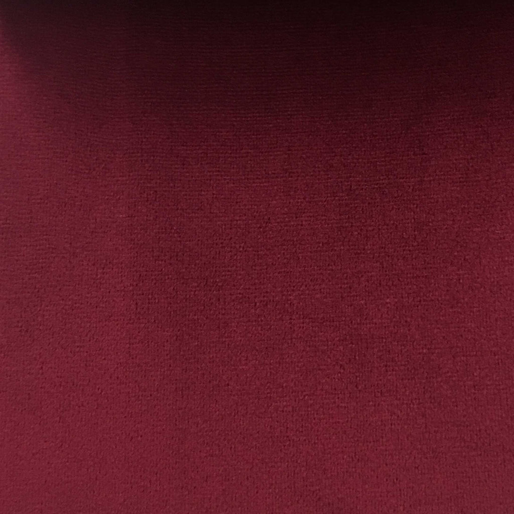 Highbury - Solid Plush Microvelvet Fabric Upholstery Velvet Fabric by the Yard - Available in 47 Colors - Merlot - Top Fabric - 13