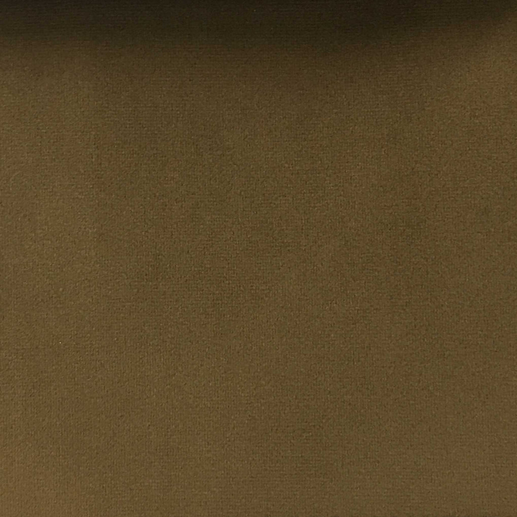 Highbury - Solid Plush Microvelvet Fabric Upholstery Velvet Fabric by the Yard - Available in 47 Colors - New Pecan - Top Fabric - 38
