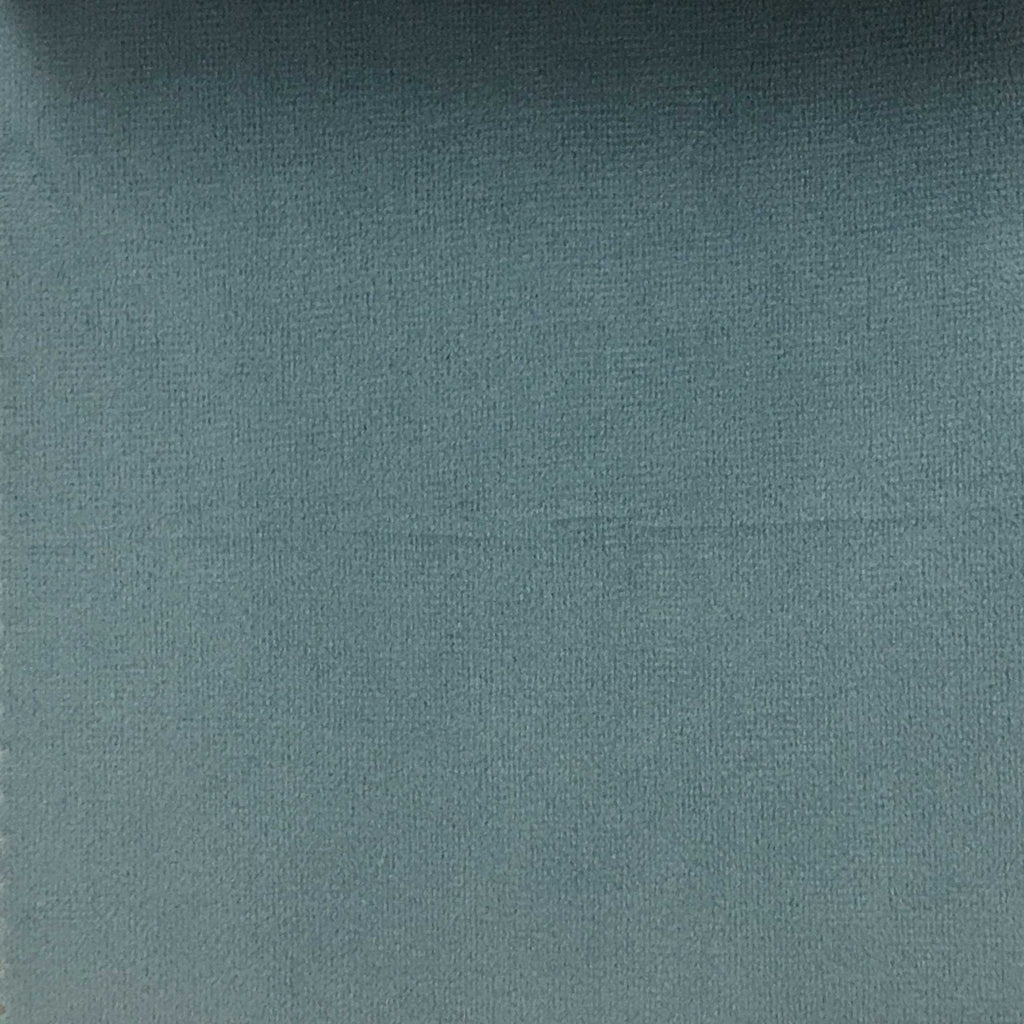 Highbury - Solid Plush Microvelvet Fabric Upholstery Velvet Fabric by the Yard - Available in 47 Colors - Ocean - Top Fabric - 25