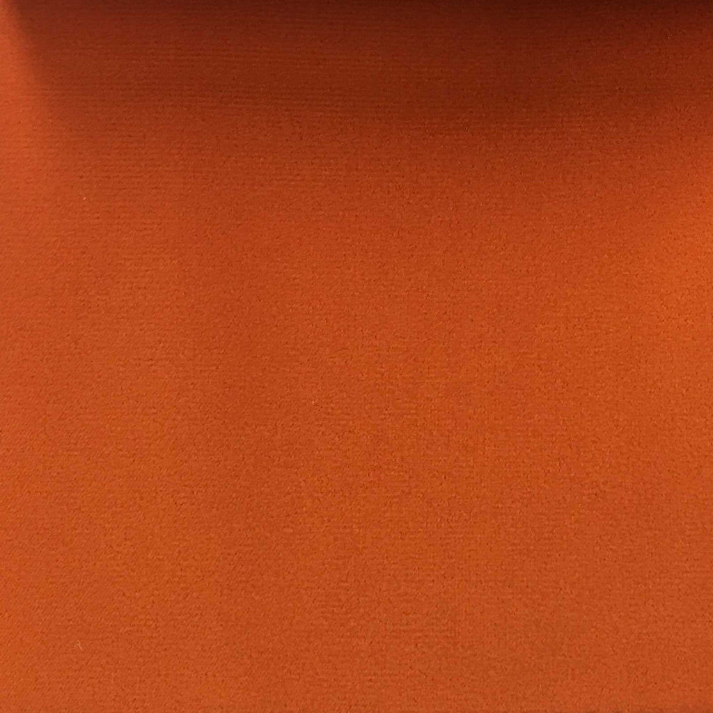 Highbury - Solid Plush Microvelvet Fabric Upholstery Velvet Fabric by the Yard - Available in 47 Colors - Orange - Top Fabric - 17