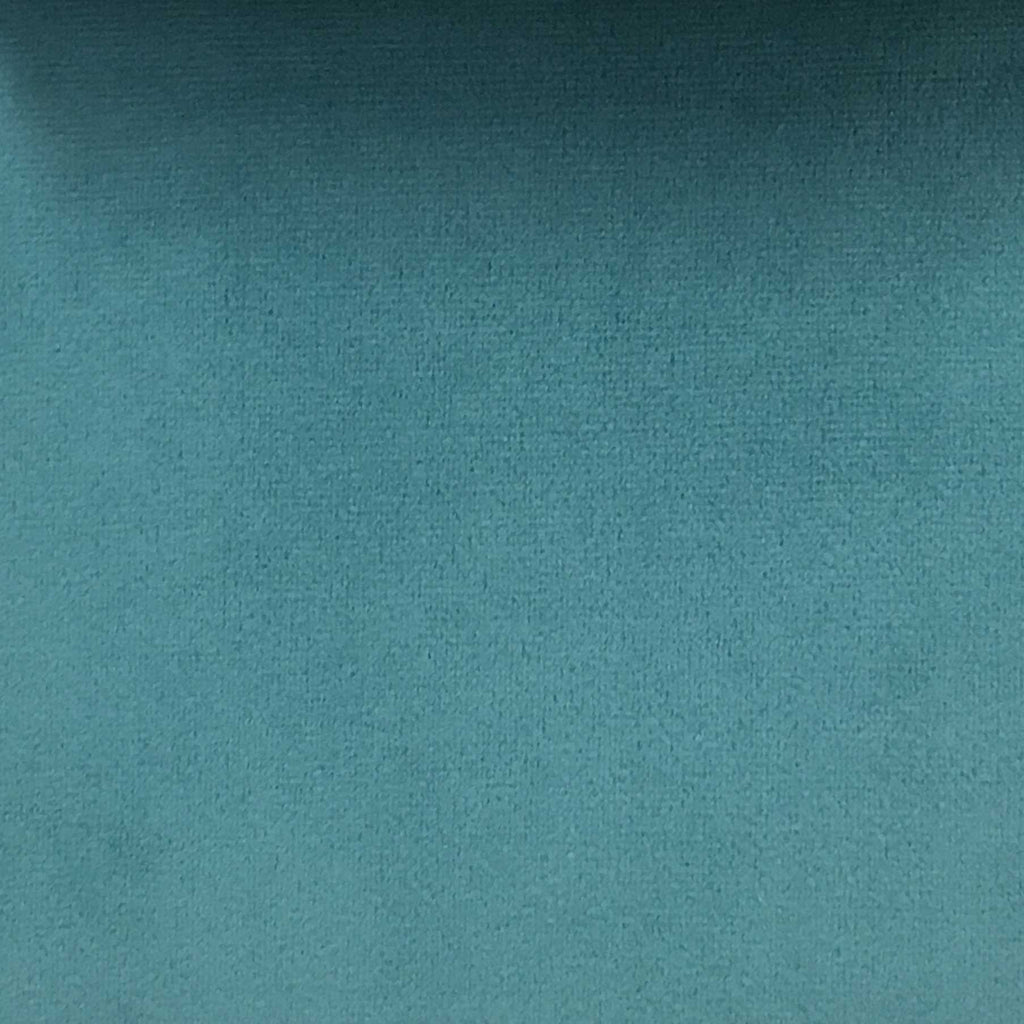 Highbury - Solid Plush Microvelvet Fabric Upholstery Velvet Fabric by the Yard - Available in 47 Colors - Peacock - Top Fabric - 23