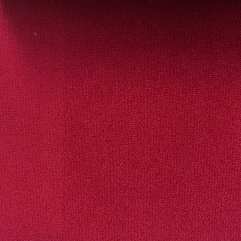 Highbury - Solid Plush Microvelvet Fabric Upholstery Velvet Fabric by the Yard - Available in 47 Colors - Sangria - Top Fabric - 15