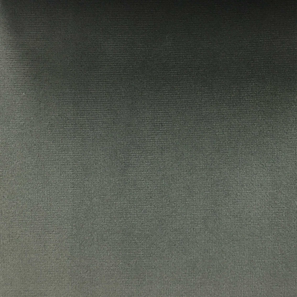 Highbury - Solid Plush Microvelvet Fabric Upholstery Velvet Fabric by the Yard - Available in 47 Colors - Smoke - Top Fabric - 5