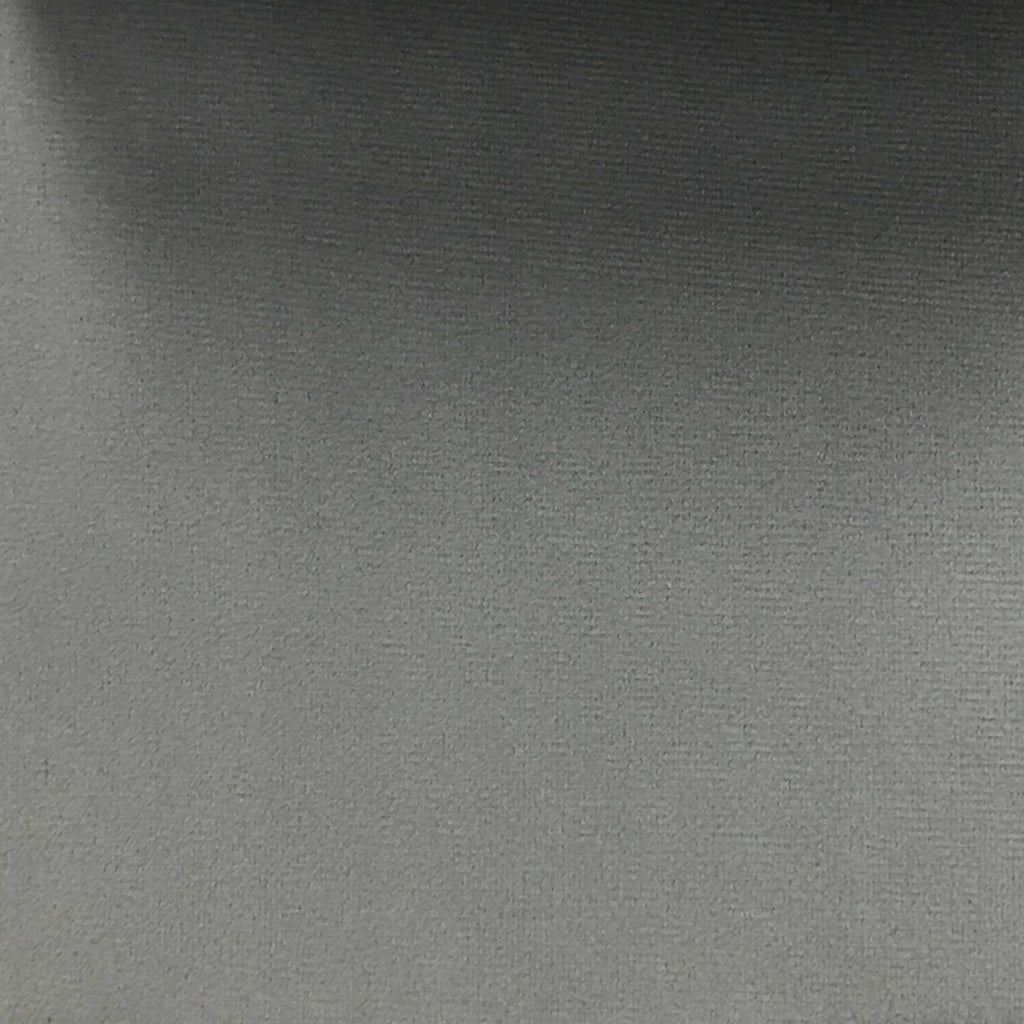 Highbury - Solid Plush Microvelvet Fabric Upholstery Velvet Fabric by the Yard - Available in 47 Colors - Steel Grey - Top Fabric - 2