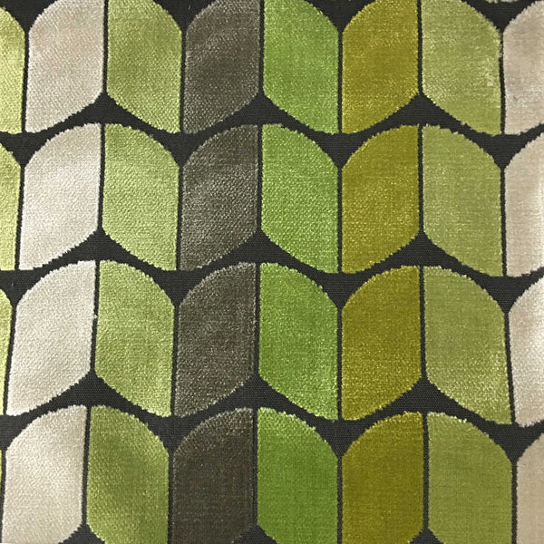 Holland - Arrow Cut Velvet Fabric Upholstery Fabric by the Yard - Available in 13 Colors - Wheatgrass - Top Fabric - 2