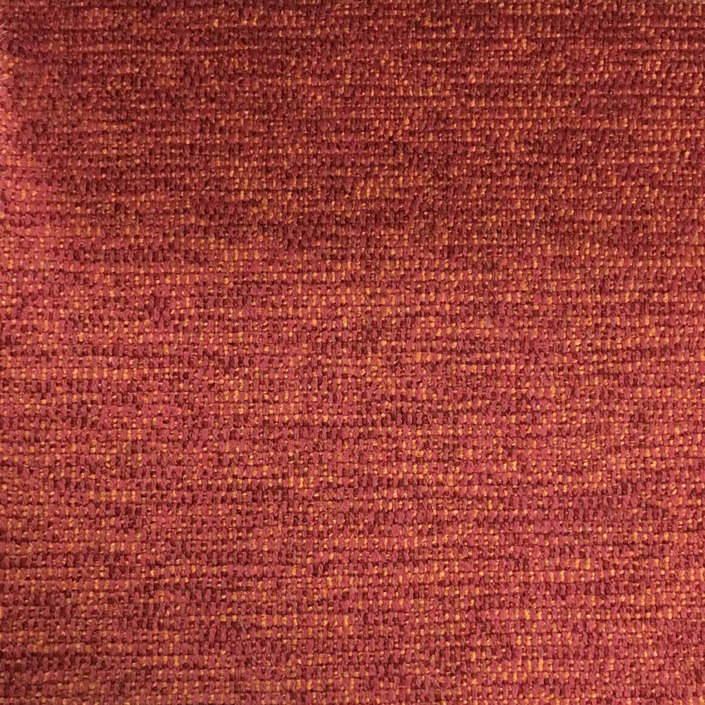 Hugh - Solid Woven Linen Upholstery Fabric by the Yard - Available in 22 Colors - Coral - Top Fabric - 20