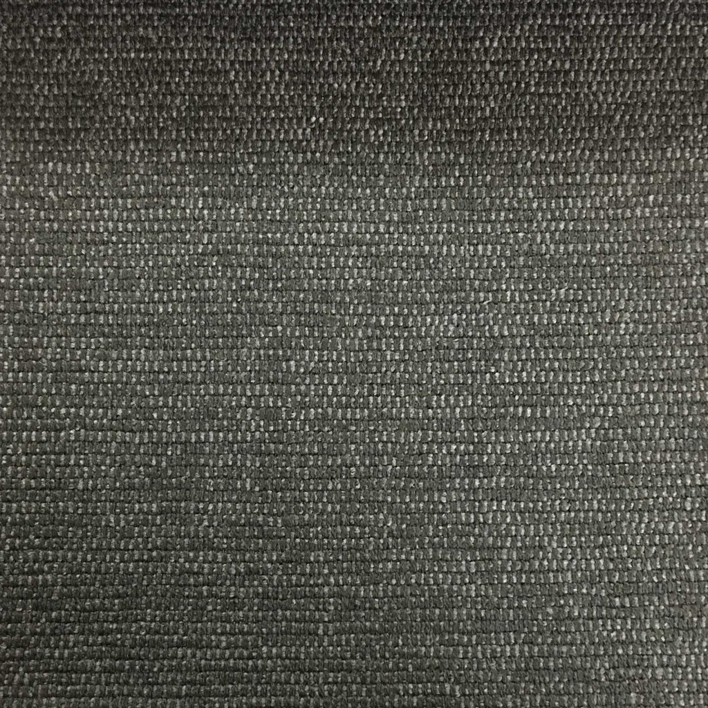 Hugh - Solid Woven Linen Upholstery Fabric by the Yard - Available in 22 Colors - Gunmetal - Top Fabric - 9
