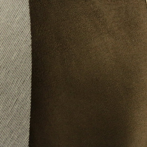 Heavy Suede - Microsuede Fabric by the Yard with Backing - Espresso