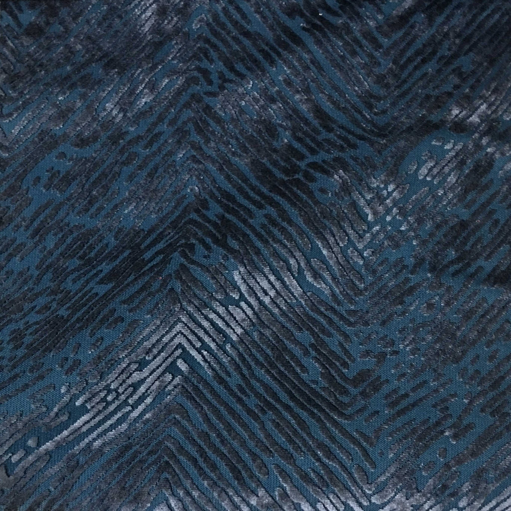 Kentish - Burnout Velvet Fabric Drapery & Upholstery Fabric by the Yard - Available in 8 Colors - Indigo - Top Fabric - 8